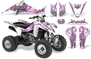 CreatorX Suzuki Ltz 400 Graphics Kit Decals Fire Blade Pink White