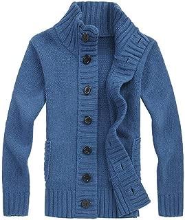 Slim Jumper Knitwear Coat Men's Winter Sweater Button Pullover Outwear Blouse