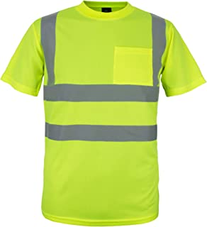 100% Polyester ANSI Class 2 Compliant High Visibility Short Sleeve Safety Shirt