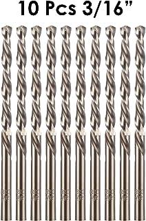 """amoolo 3/16"""" Cobalt Drill Bit(10 Pcs), M35 HSS Metal Drill Bit Set for Hard Metal,.."""