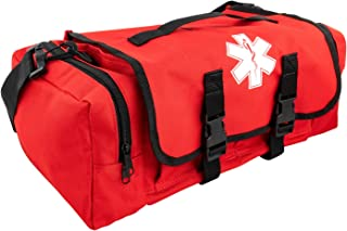 LINE2design First Aid Medical Bag - EMS EMT Paramedic Economical Tactical First Responder Trauma Bag Empty - Portable Outdoor Travel Jump Rescue Bags - Red
