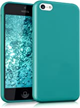 kwmobile TPU Silicone Case for Apple iPhone 5C - Soft Flexible Shock Absorbent Protective Phone Cover - Teal Matte