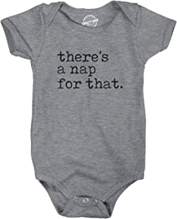 Creeper There's A Nap For That Baby Bodysuit Funny Sleepy Baby Jumper