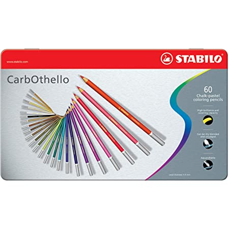 Matita colorata Premium - STABILO CarbOthello - Scatola in Metallo da 60 - Colori assortiti