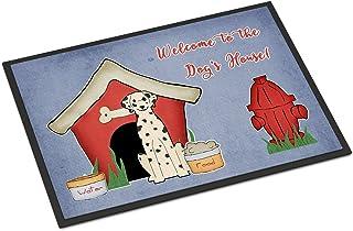 "Caroline's Treasures BB2851MAT Dog House Collection DalMatian Indoor or Outdoor Mat, 18 x 27"", Multicolor"