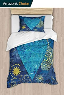 PRUNUSHOME Hotel Luxury Bed Sheets Collage Artwork with Heart,Artwork is Created and Painted by Myself Hypoallergenic Bed Sheet Set and Pillow Case Set Twin