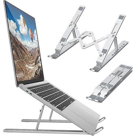 """Bamoer Supporto PC Portatile Angolazione Regolabile Porta Notebook Pieghevole Alluminio Porta PC Supporto per MacBook Air/PRO, dell, XPS, HP, Lenovo -10-15.6"""""""