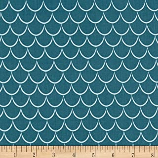 Riley Blake Designs Dragons Scales Fabric, Blue, Fabric By The Yard