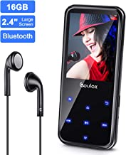 Mp3 Player 16GB with FM Radio,COULAX MP3 Music Player with Bluetooth 4.0,HiFi,Recorder E-Book, 2.4'' Screen Support up to 128GB (Free Headphone) photo