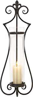 Deco 79 68751 Metal & Glass Candle Sconce