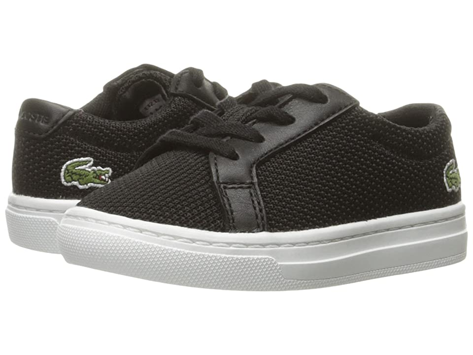 Lacoste Kids L.12.12 (Toddler/Little Kid) (Black) Kids Shoes