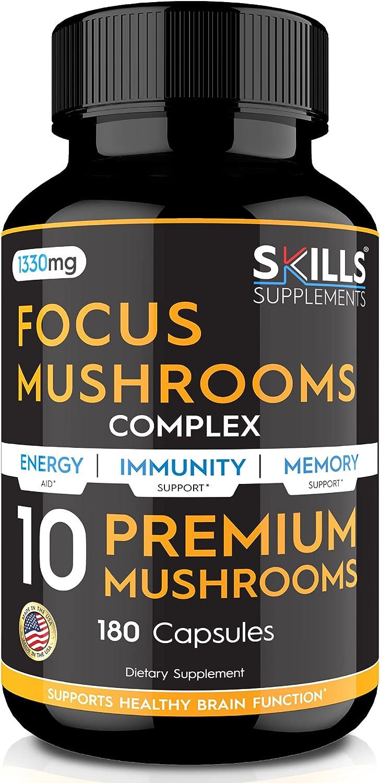 Skills Quality inspection Omaha Mall Mushroom Supplement - Lions Mane Cordyceps Shii Reishi