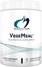 Designs for Health VegeMeal - Non-Dairy Pea Protein Meal Replacement Supplement Powder with 5-MTHF, Creatine + 16g Vegetar...
