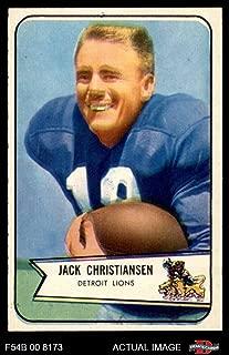 1954 Bowman # 100 Jack Christiansen Detroit Lions (Football Card) Dean's Cards 5 - EX Lions
