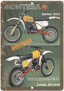 None Brand Montesa Cappra Motocross de Chapa Mural Wall Hang Retro Poster Art Creative Door Sign Decoración Bares Cafés Pubs Inicio