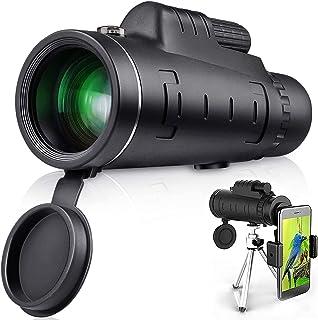 LS Monocular Telescope, 40X60 High Power HD Monocular with Smartphone Holder & Tripod for Hiking, Fishing, Hunting, Bird W...