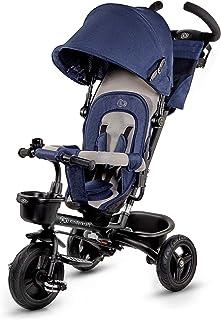 kk Kinderkraft trehjul 6-i-1 AVEO, trehjuling, joggare med tillbehör, hopfällbar, takfönster, styrning, omväxlande hjul, g...