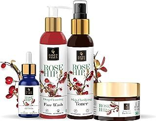 Good Vibes Rosehip Range Combo Kit ( Face Wash 200 ml + Toner 200 ml + Face Serum 10 ml + Face Cream 50 g)