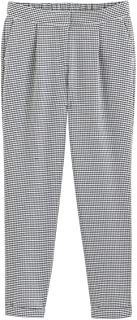 La Redoute Collections Womens Gingham Print Slim Fit Trousers, Length 26