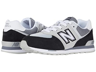 New Balance Kids 574 Varsity Sport (Little Kid) (Black/Light Aluminum) Boy