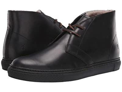 Frye Essex Chukka (Black WP Smooth Pull-Up/Shearling) Men