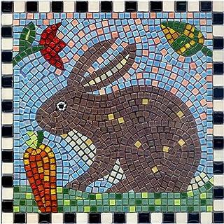 kit mosaïque DIY Art 20x20cm Lapin avec carotte