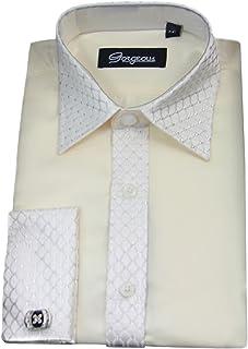 3f4badd89 Boys Special Occasion Wedding Smart Shirt, Tie Cufflinks & Handkerchief set