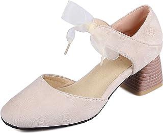 Mo Joc Escarpins pour Femmes, Chaussures à Talons Hauts avec Lacets