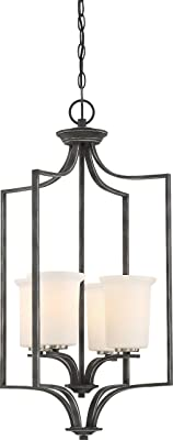 Nuvo 60/6376 Four Light Pendant, 4 Foyer, Black