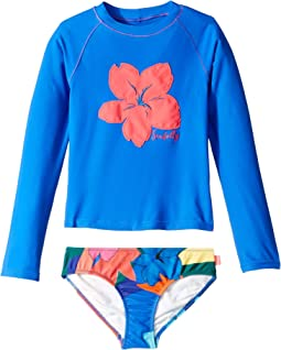 Rainbow Crush Long Sleeve Surf Set (Little Kids/Big Kids)