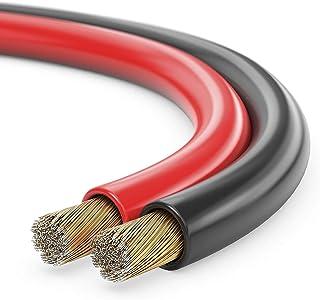sonero® 100 Meter 2x2,50mm² CCA Lautsprecherkabel / Boxenkabel, Farbe: rot/schwarz