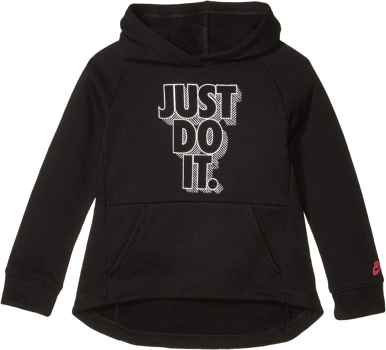 Nike Kids Girl's Metallic Logo Lightweight Fleece Pullover Hoodie (Little Kids)