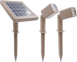 HEX 30X Twin Solar Spotlight Warm White LED for Outdoor Garden Yard Landscape Downlight