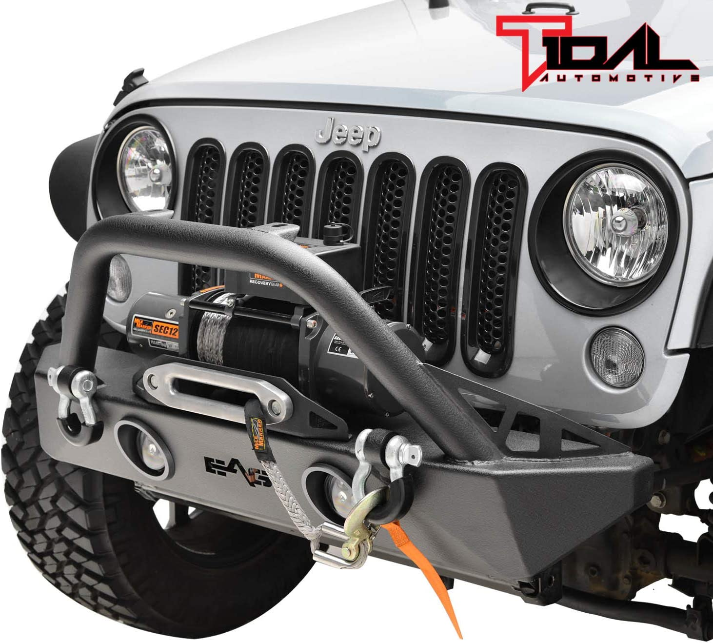 Tidal Fit for Selling and selling 07-18 Wrangler Super beauty product restock quality top! JK Off-road Front W Stubby L Bumper