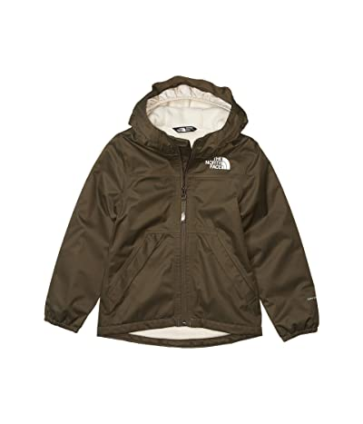 The North Face Kids Warm Storm Rain Jacket (Little Kids/Big Kids) (New Taupe/Green) Girl