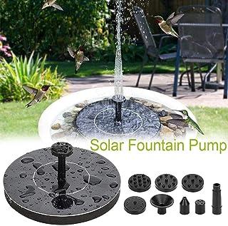 1.5W Upgraded Solar Fountain Pump, Mini Solar Bird Bath Floating Fountain, Solar Powered Water Fountain Pump for Fish Tabk, Garden, Pond, Pool Outdoor