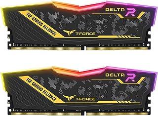 TEAMGROUP T-Force Delta TUF DDR4 16GB (2x8GB) 3200MHz (PC4-25600) CL16 Desktop Memory Module ram - TF9D416G3200HC16CDC01 - (TUF Alliance RGB Module)