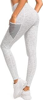 Women Yoga Leggings Mesh Pocket Mid-Waist Gym Running Tights 60127