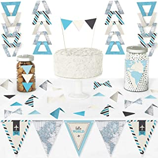 Big Dot of Happiness Precious Cargo - Blue - Diy Pennant Banner Decorations - Boy Baby Shower Triangle Kit - 99 Pieces