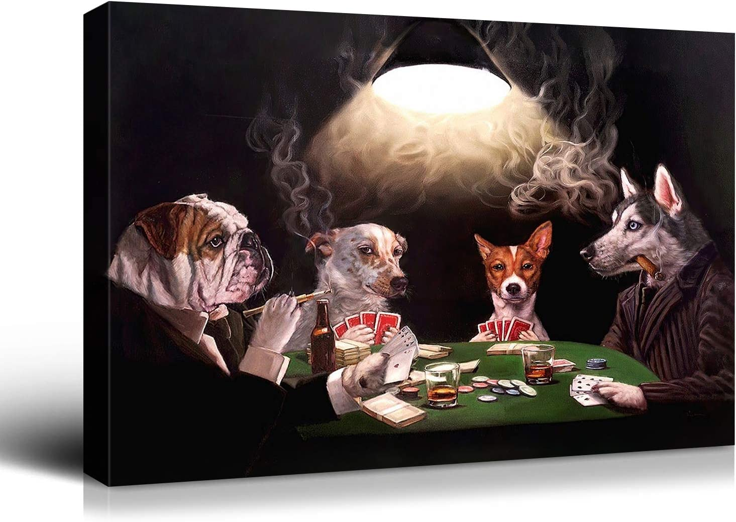 Denozer Canvas Wall Direct stock discount Limited time trial price Art - Dogs Playing C.M Coolidge Series Poker