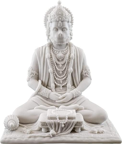 Top Collection 8 Hanuman Hindu Statue In White Marble Finish Hindu God Of Strength Figurine
