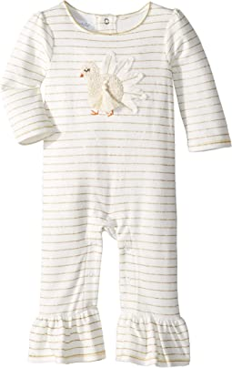 Thanksgiving Chiffon Turkey One-Piece Playwear (Infant)