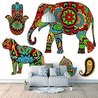 VITICP Adults Kids Wall Stickers Decals Peel and Stick Removable Wallpaper Color Animal Elephant for Nursery Bedroom Livin...