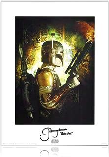 Boba Fett Signed Star Wars Bounty Hunters Poster