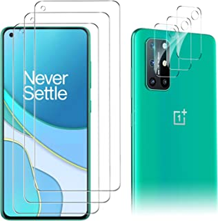 Luibor for OnePlus 8T Screen Protector[3 Pack]+ for OnePlus 8T Camera Lens Protector [3 Pack], Tempered Glass for OnePlus ...