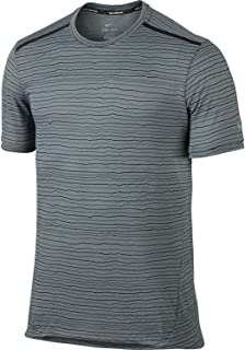 Mens Dri-Fit Cool Tailwind Running Shirt 872018 (Small, Cool Grey/Reflective Silver-Black)
