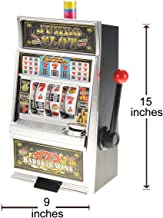 CHIMAERA 15-Inch Mini Lucky 7 Slot Machine Money Bank with Lights and Sound