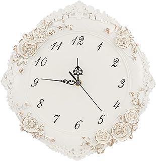 AUNMAS Horloge Murale créative de Style européen, Horloge silencieuse, Horloge à Piles silencieuse, Artisanat Mural pour l...
