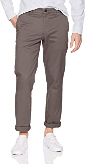 Amazon Brand - Goodthreads Men's Straight-Fit Washed Chino trouser, Grey, 40W x 29L