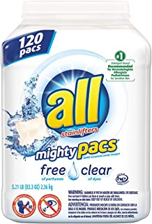 all Free & Clear Mighty Pacs, (120 ct.) x6 AS